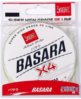 Шнур Lucky John Basara Light Green Х4 125m #0.3/0.091mm 3.9kg (LJ4102-009)